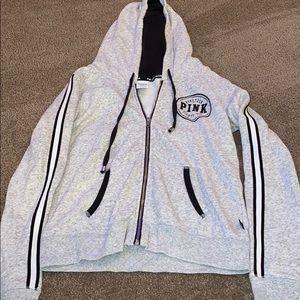 WORN ONCE Victoria's Secret full zip sweatshirt